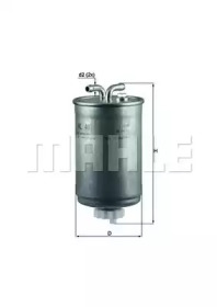 KL41 KNECHT Фільтр паливний VAG Diesel (дві трубки)