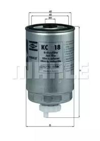 KC18 KNECHT Фільтр паливний VAG/Seat (вкручується)