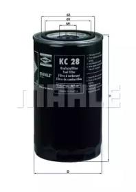 KC28 KNECHT Фильтр топл. (TRUCK) (пр-во Knecht-Mahle)