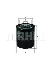 OC1091 KNECHT Фільтр масляний Nissan 200 SX, Almera 1.6/2.0 90- Daihatsu Charmant 1300 (МОТ. 4K-U)