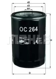 OC264 KNECHT Фільтр масляний VAG 1.6/1.8/2.0/2.6/2.8E V6 90-