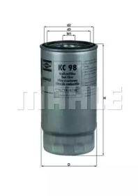 KC98 KNECHT Фільтр паливний (h161.5mm ) Bmw 318/525/530/725/730 Diesel