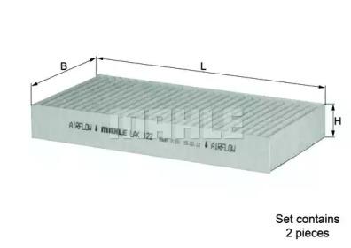 LAK122S KNECHT Фильтр, воздух во внутренном пространстве