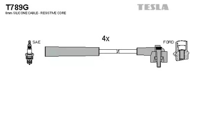 T789G TESLA Комплект проводов зажигания