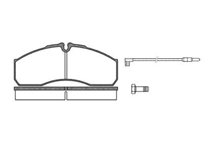 P751312 WOKING Комплект тормозных колодок, дисковый тормоз