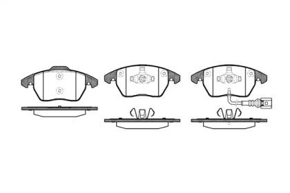 P1130301 WOKING Комплект тормозных колодок, дисковый тормоз