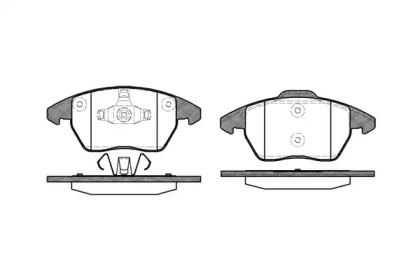P1130310 WOKING Комплект тормозных колодок, дисковый тормоз