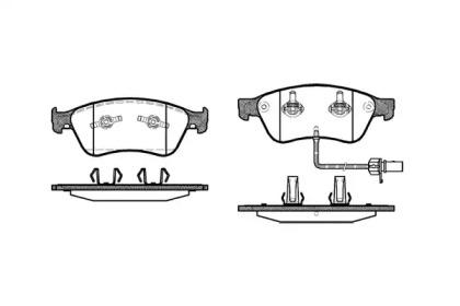 P1156302 WOKING Комплект тормозных колодок, дисковый тормоз