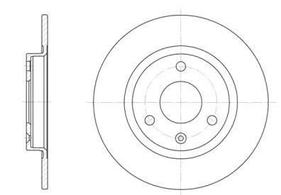 D607000 WOKING Тормозной диск