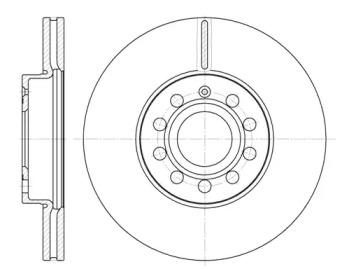 D664810 WOKING Тормозной диск