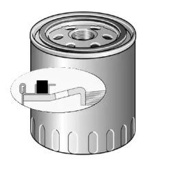 LS214 PURFLUX Фільтр масла Audi 100 2,0TD/2,4D 8/89-2,5TDI -11/90 -1