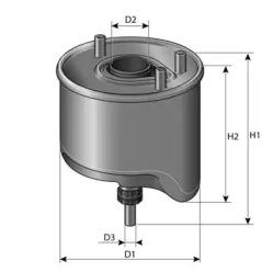 CS762 PURFLUX Фільтр паливний Citroen/Peugeot 1.6Hdi 08- -1