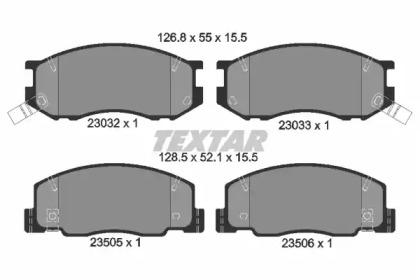 2303201 TEXTAR Комплект тормозных колодок, дисковый тормоз