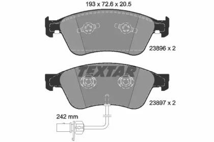 2389601 TEXTAR Комплект тормозных колодок, дисковый тормоз