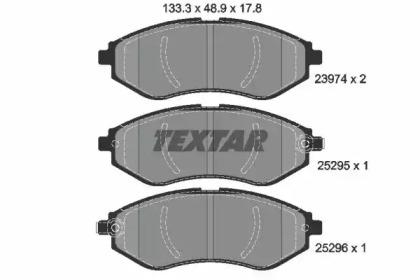 2397406 TEXTAR Комплект тормозных колодок, дисковый тормоз