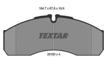 2916002 TEXTAR Комплект тормозных колодок, дисковый тормоз