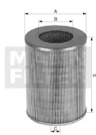 C420 MANN-FILTER Фильтр воздуха