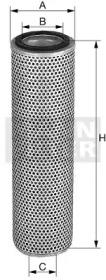 HD151741X MANN-FILTER Фильтр, Гидравлическая система привода рабочего оборудования