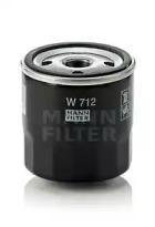 W712 MANN-FILTER Масляный фильтр; Фильтр, Гидравлическая система привода рабочего оборудования; Фильтр, система вентиляции картера