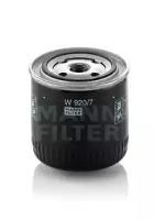 W9207 MANN-FILTER Масляный фильтр, Гидрофильтр, автоматическая коробка передач, Фильтр, Гидравлическая система привода рабочего оборудования