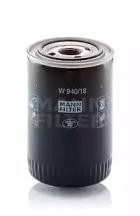 W94018 MANN-FILTER Масляный фильтр, Фильтр, Гидравлическая система привода рабочего оборудования