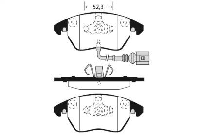 RA08171 RAICAM Комплект тормозных колодок, дисковый тормоз