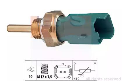 Датчик температури охол.рідини Fiat 1.2-1.9JTD 99-,Opel 1.3-1.9 CDTI 03- EPS 1830261 для авто  с доставкой