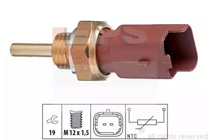 Датчик температури охол.рідини Fiat 1.2-1.9JTD 99-,Opel 1.3-1.9 CDTI 03- EPS 1830326 для авто  с доставкой