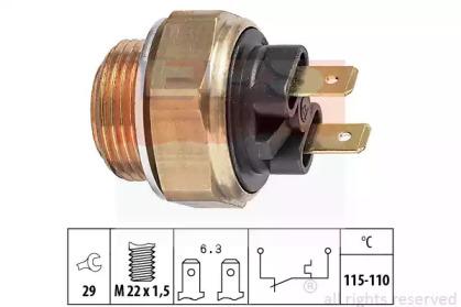 Фотография Термовыключатель, вентилятор радиатора EPS 1850135