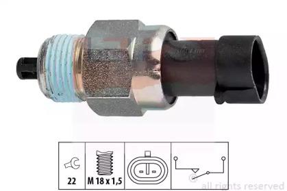 Вимикач заднього ходу Fiat Doblo 1.4-1.6 01- /Brava 1.2-1.4 98-01 EPS 1860142 для авто  с доставкой