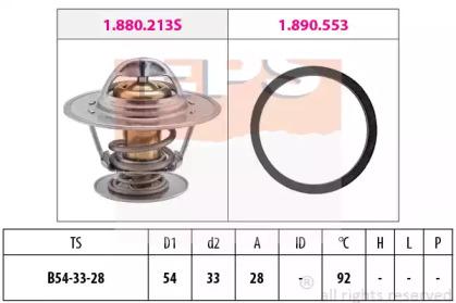 Термостат Ford Diesel,VAG,Opel EPS 1880213 для авто  с доставкой