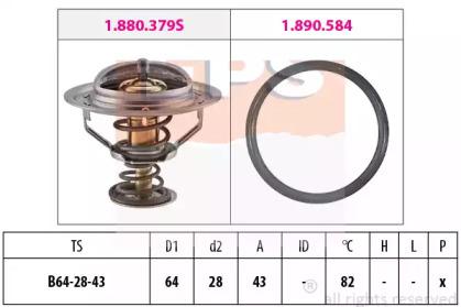 Термостат KIA Sorento II 2.2 CRDI 09- EPS 1880649 для авто  с доставкой