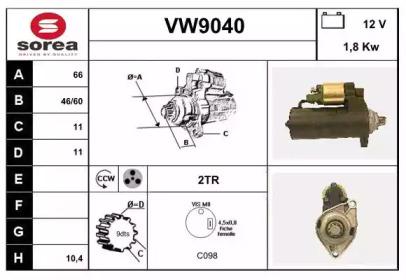 VW9040 SNRA