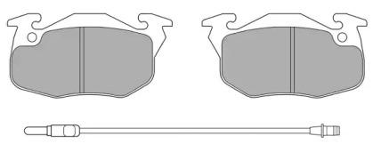 FBP0464 FREMAX Комплект тормозных колодок, дисковый тормоз