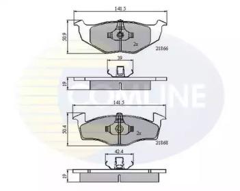 CBP0706 COMLINE Комплект тормозных колодок, дисковый тормоз