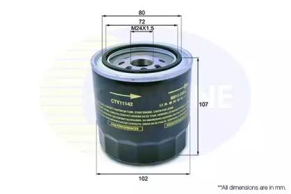 CTY11142 COMLINE Масляный фильтр