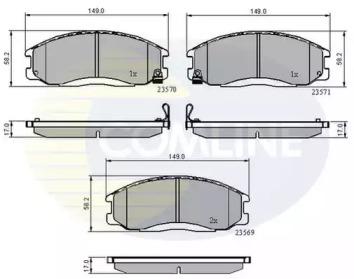 CBP3938 COMLINE Комплект тормозных колодок, дисковый тормоз