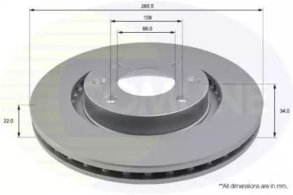 ADC1518V COMLINE Тормозной диск