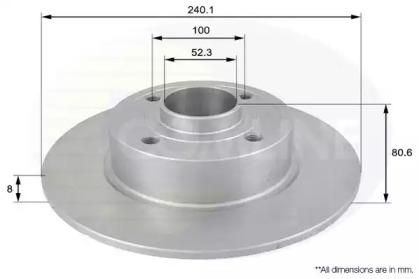 ADC1555 COMLINE Тормозной диск