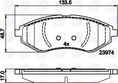 CBP01598 COMLINE Комплект тормозных колодок, дисковый тормоз