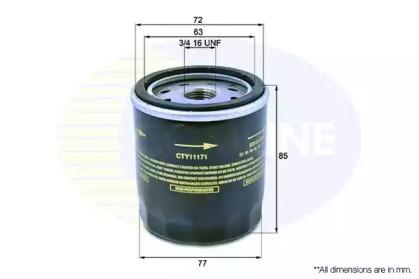 CTY11171 COMLINE Масляный фильтр