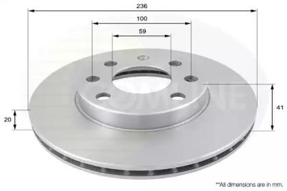 ADC1047V COMLINE Тормозной диск