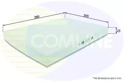 EKF112 COMLINE Фильтр, воздух во внутренном пространстве