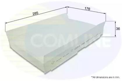 EKF117 COMLINE Фильтр, воздух во внутренном пространстве