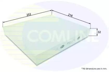 EKF122 COMLINE Фильтр, воздух во внутренном пространстве