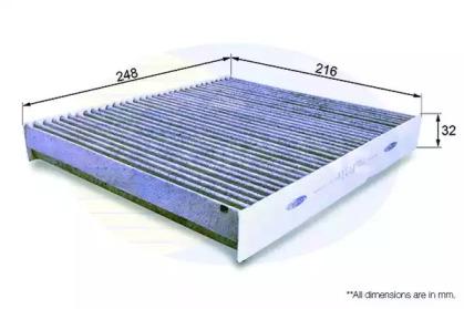EKF122A COMLINE Фильтр, воздух во внутренном пространстве