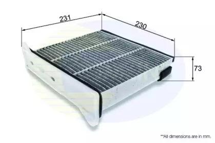 EKF349A COMLINE Фильтр, воздух во внутренном пространстве
