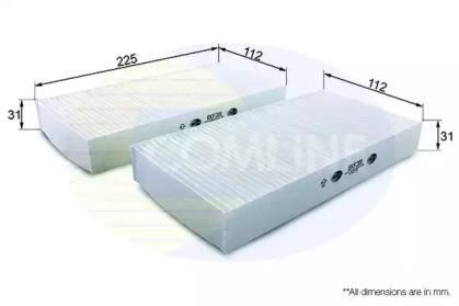 EKF201 COMLINE Фильтр, воздух во внутренном пространстве
