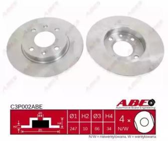 C3P002ABE ABE C3P002ABE = PL 5094 Тормозной диск JC -2