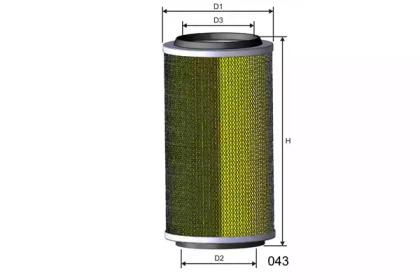 R107 MISFAT Воздушный фильтр